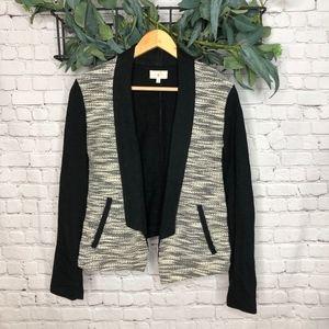 Lou & Grey Black and White Sweater Blazer